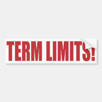 Term Limits NOW! Bumper Sticker