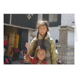 Terma Foundation Blank Notecard- Tibetan Children Note Card