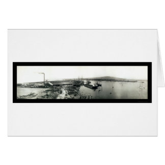 Terminal Island Ships, California Photo 1929 Greeting Card