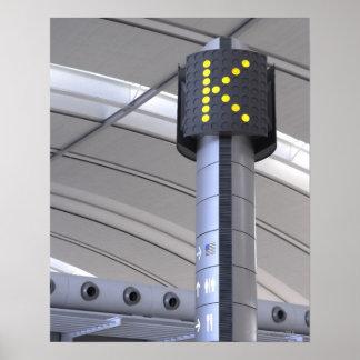 Terminal Sign, Toronto Pearson International Poster