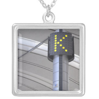 Terminal Sign, Toronto Pearson International Silver Plated Necklace