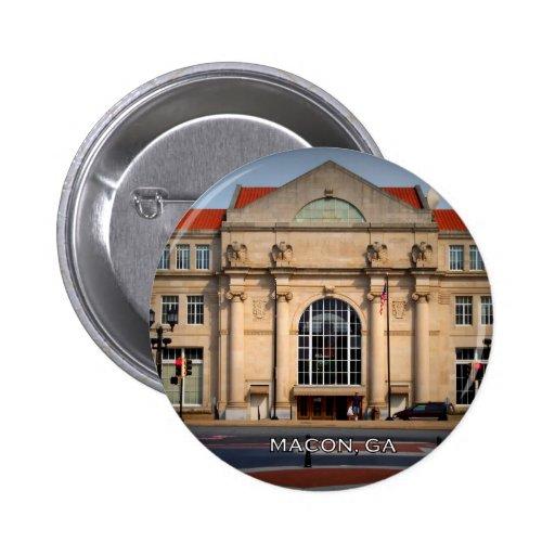 TERMINAL STATION - Macon, Georgia Pinback Buttons