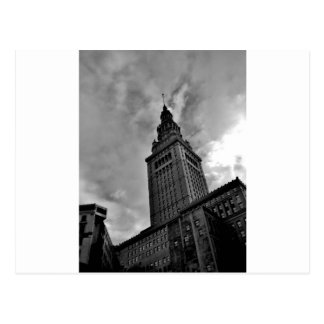 Terminal Tower in Black and White Postcard