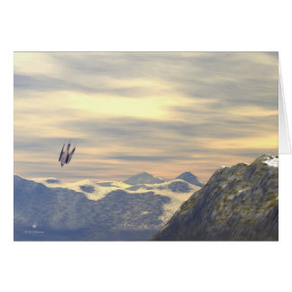 Terminal Velocity Peregrine Falcon Greeting Card