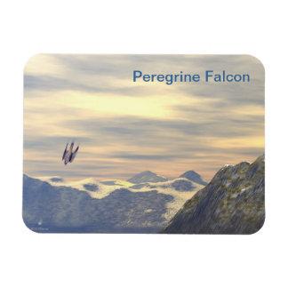 Terminal Velocity Peregrine Falcon Rectangular Photo Magnet
