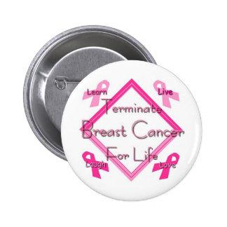 Terminate Breast Cancer 6 Cm Round Badge