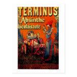 Terminus Absinthe Vintage PosterEurope Postcard