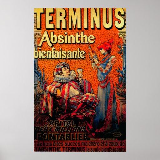 Terminus Absinthe Vintage PosterEurope Poster