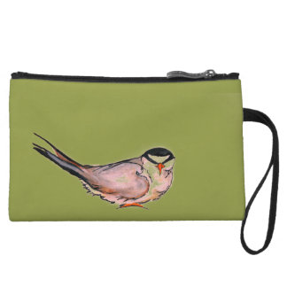 Tern on Olive Mini Clutch