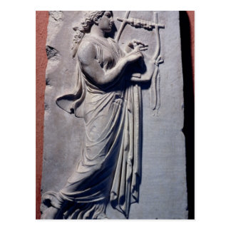 Terpsichore the muse of dancing and song postcard