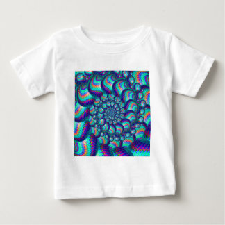 Terquoise Blue Balls Fractal Pattern Baby T-Shirt