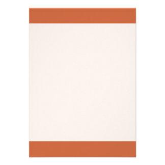 """Terra Cotta colored 5"""" X 7"""" Invitation Card"""