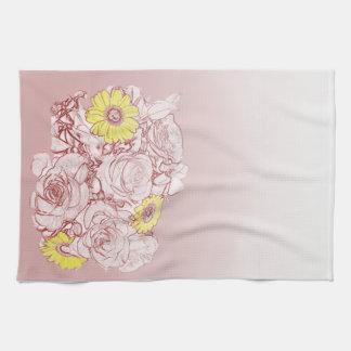 Terra Cotta Edged Bouquet American MoJo Kitchen To Kitchen Towel