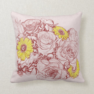 Terra Cotta Edged Bouquet Cushion