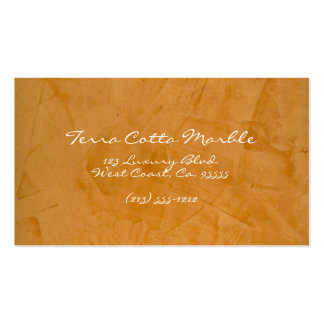 Terra Cotta Marble Business Card Templates