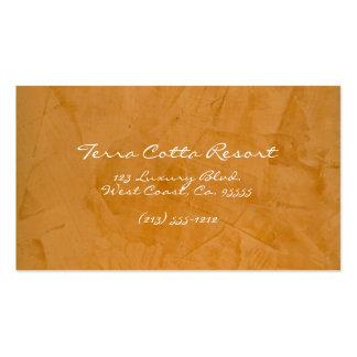 Terra Cotta Resort Pack Of Standard Business Cards