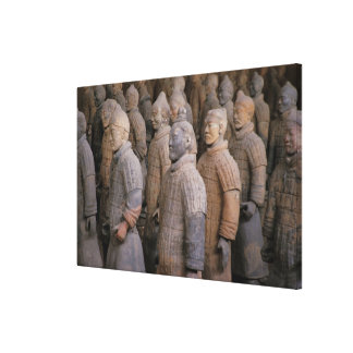 Terra Cotta warriors in Emperor Qin Shihuang s Stretched Canvas Prints