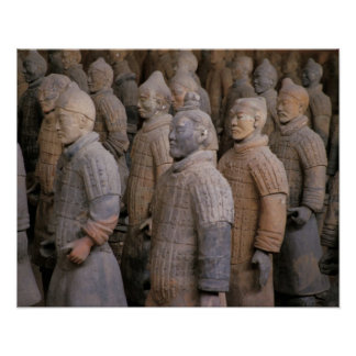 Terra Cotta warriors in Emperor Qin Shihuang s Posters