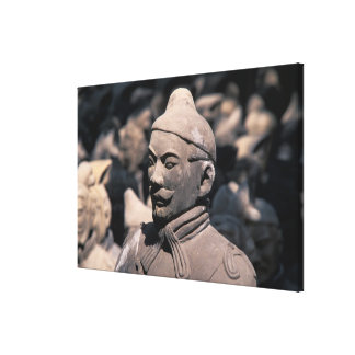 Terra Cotta warriors in Emperor Qin Shihuang's 2 Stretched Canvas Print