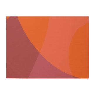 Terra-Cotta Wood Print