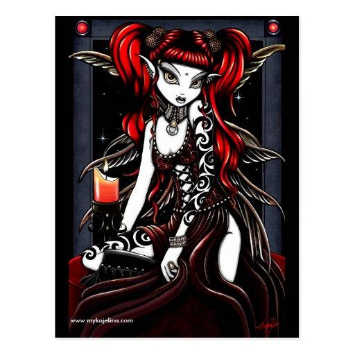 Terra Red Tattoo Fairy Postcard