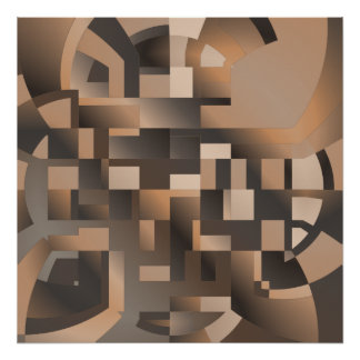 Terrace Abstract Geometric Poster