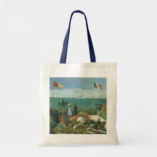Terrace at the Seaside by Claude Monet Tote Bag