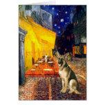 Terrace Cafe - German Shepherd 2 Cards