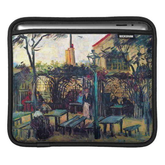Terrace  Cafe on Montmartre Vincent Van Gogh iPad Sleeve
