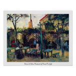 Terrace  Cafe on Montmartre Vincent Van Gogh Poster