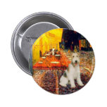 Terrace Cafe - wire Fox Terrier #1 Badge