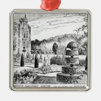 Terrace Garden Ballimore, Argyle, from Thomas Maws Silver-Colored Square Decoration
