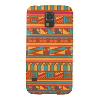 Terracotta Abstract Aztec Tribal Print Pattern Galaxy S5 Cover