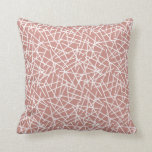 Terracotta Abstract Hatch Pattern Cushion