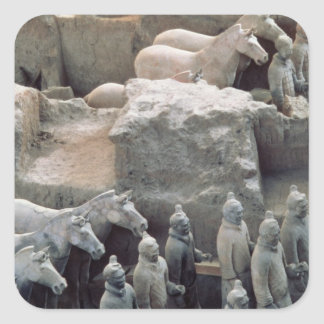 Terracotta Army, Qin Dynasty, 210 BC Square Sticker