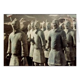 Terracotta Army, Qin Dynasty, 210 BC; warriors Card