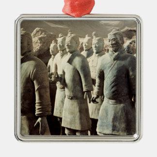 Terracotta Army, Qin Dynasty, 210 BC; warriors Christmas Ornament