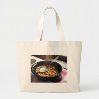 Terracotta bowl with beans . Tuscan typical recipe Jumbo Tote Bag