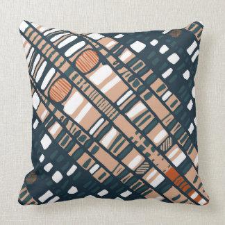 Terracotta Diagonal Layers Throw Pillow