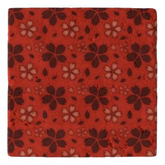 Terracotta Floral Trivet