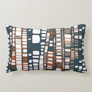Terracotta layers lumbar pillow