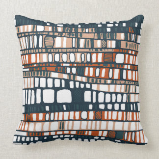 Terracotta Layers Throw Pillow