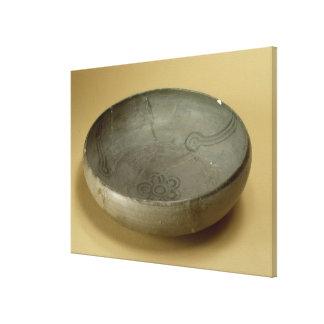Terracotta painted grey ware, Hastinapur, 800-400 Canvas Print
