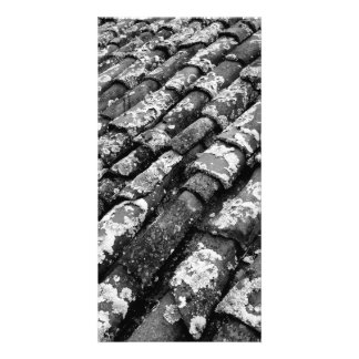 Terracotta roof tiles customized photo card