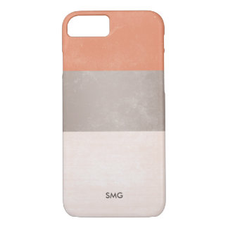 Terracotta & Silver Gray Monogrammed iPhone 8/7 Case