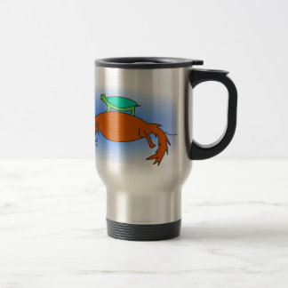 Terrapin floating on a fox travel mug