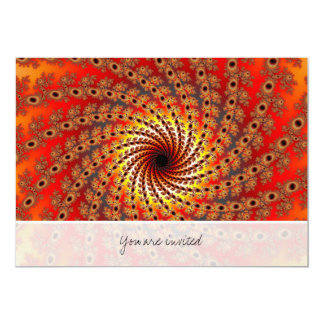 Terrapin Spin Fractal Art 5x7 Paper Invitation Card