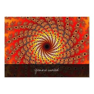 Terrapin Spin Fractal Art Invitations