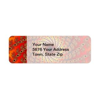 Terrapin Spin Fractal Art Return Address Label