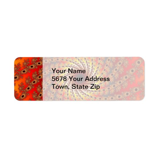 Terrapin Spin Fractal Art Return Address Label